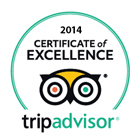 Tripadvisor -2014 Certificate of Excellence